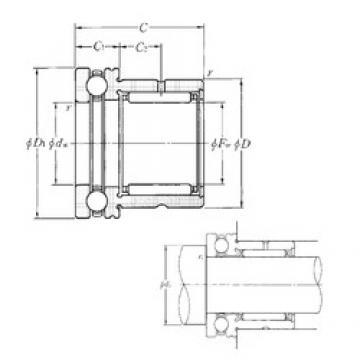 NTN NKX45 complex bearings