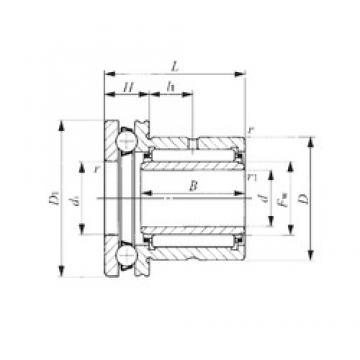 7 mm x 19 mm x 16 mm  IKO NAXI 723 complex bearings