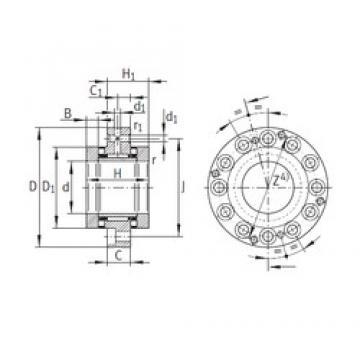 65 mm x 155 mm x 17,5 mm  INA ZARF65155-TV complex bearings