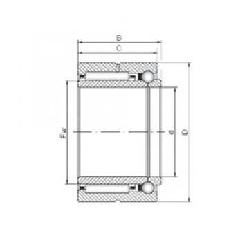 30 mm x 47 mm x 23 mm  ISO NKIB 5906 complex bearings