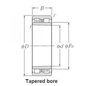 110 mm x 150 mm x 40 mm  NTN NNU4922K cylindrical roller bearings
