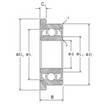2 mm x 6 mm x 3 mm  NMB RF-620ZZ deep groove ball bearings