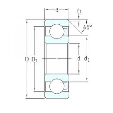 15 mm x 32 mm x 8 mm  SKF 16002/HR11QN deep groove ball bearings