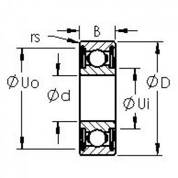 AST 629HZZ deep groove ball bearings
