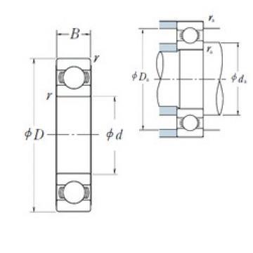 12 mm x 37 mm x 12 mm  NSK 6301 deep groove ball bearings