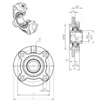 SNR UCFC213 bearing units