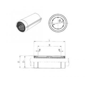 35 mm x 52 mm x 99 mm  Samick LM35L linear bearings