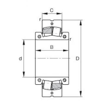13 inch x 540 mm x 205 mm  FAG 230S.1300 spherical roller bearings