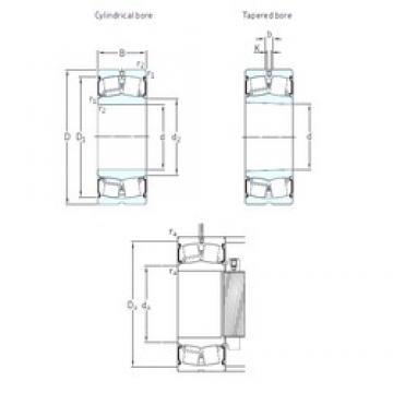 65 mm x 140 mm x 56 mm  SKF BS2-2313-2CS/VT143 spherical roller bearings