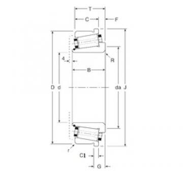 101,6 mm x 165,1 mm x 39,5 mm  Gamet 141101X/141165XC tapered roller bearings