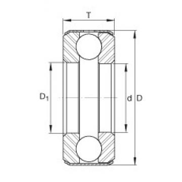 INA D20 thrust ball bearings