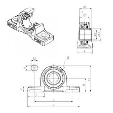 SNR UCP203 bearing units