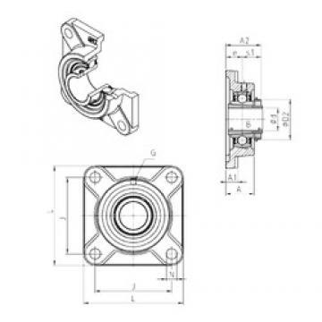 SNR UKF306H bearing units