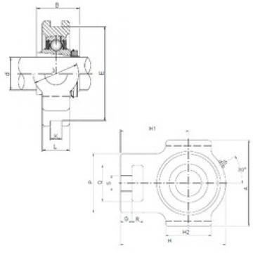 ISO UKT212 bearing units