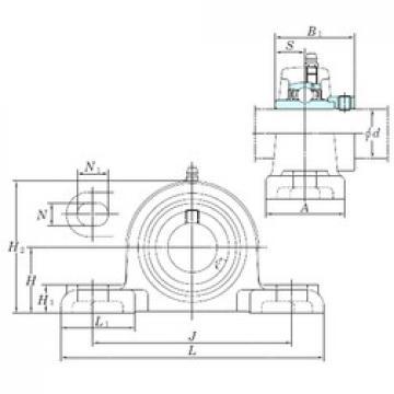 KOYO NAPK211-34 bearing units