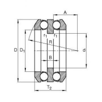 40 mm x 78 mm x 9 mm  FAG 54210 thrust ball bearings