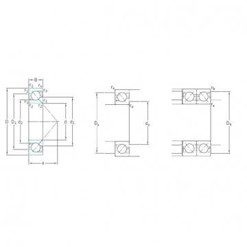 55 mm x 120 mm x 29 mm  SKF 7311BECBM angular contact ball bearings