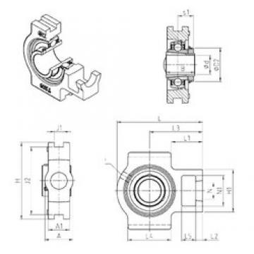SNR UKT309H bearing units