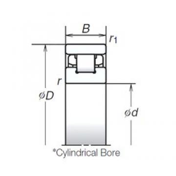 55 mm x 90 mm x 18 mm  NSK N1011RSZTP cylindrical roller bearings