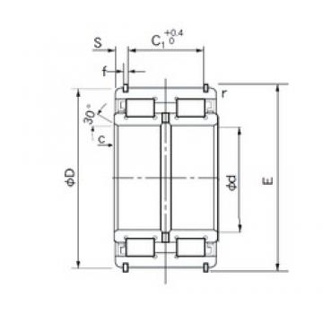 170 mm x 260 mm x 122 mm  NACHI E5034NR cylindrical roller bearings