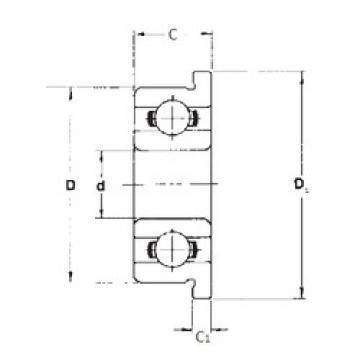 2 mm x 5 mm x 1,5 mm  FBJ F682 deep groove ball bearings