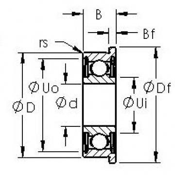 AST SMF63ZZ deep groove ball bearings