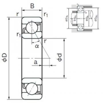 45 mm x 75 mm x 16 mm  NACHI 7009 angular contact ball bearings