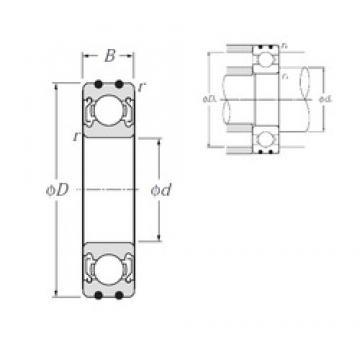10 mm x 26 mm x 8 mm  NTN AC-6000ZZ deep groove ball bearings
