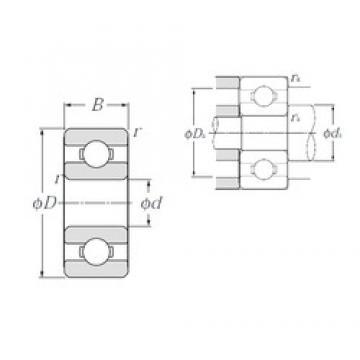 1,5 mm x 6 mm x 2,5 mm  NTN 60/1,5 deep groove ball bearings