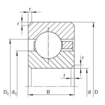 11 inch x 298,45 mm x 9,525 mm  INA CSCC110 deep groove ball bearings