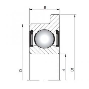 5 mm x 16 mm x 5 mm  ISO FL625 ZZ deep groove ball bearings