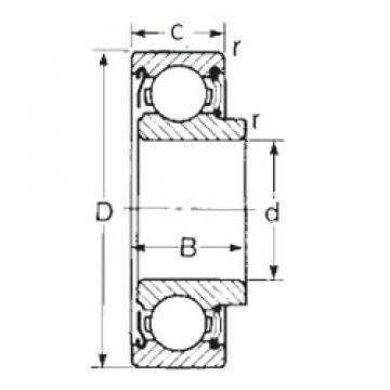 45 mm x 100 mm x 30 mm  CYSD 87609 deep groove ball bearings