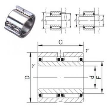 60 mm x 90 mm x 60 mm  JNS NAFW 609060 needle roller bearings