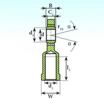 50 mm x 75 mm x 35 mm  ISB SI 50 C 2RS plain bearings