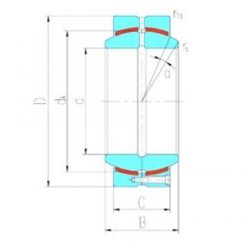 380 mm x 520 mm x 190 mm  LS GEC380HCS plain bearings