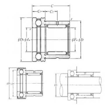 NTN NKX35T2Z complex bearings