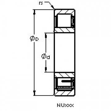 AST NU2215 EM cylindrical roller bearings