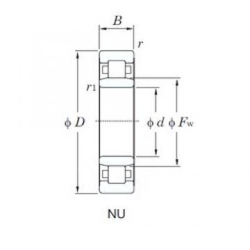170 mm x 310 mm x 110 mm  KOYO NU3234 cylindrical roller bearings