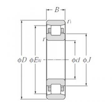 140 mm x 250 mm x 68 mm  NTN N2228 cylindrical roller bearings