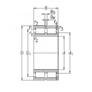 300 mm x 420 mm x 118 mm  NKE NNC4960-V cylindrical roller bearings