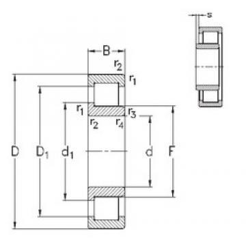 130 mm x 230 mm x 40 mm  NKE NJ226-E-M6 cylindrical roller bearings