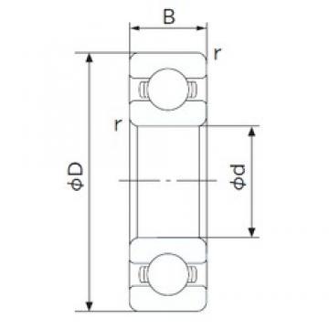 30 mm x 42 mm x 7 mm  NACHI 6806 deep groove ball bearings