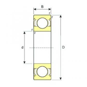 4 mm x 7 mm x 2,5 mm  ISB MR74ZZ deep groove ball bearings