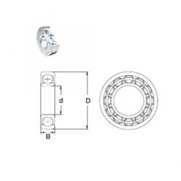 15 mm x 35 mm x 11 mm  ZEN 6202-2Z deep groove ball bearings