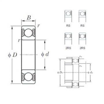 17 mm x 40 mm x 12 mm  KOYO 6203-2RS deep groove ball bearings