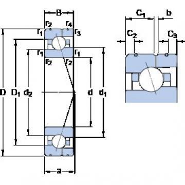 40 mm x 68 mm x 15 mm  SKF 7008 CE/P4AL angular contact ball bearings