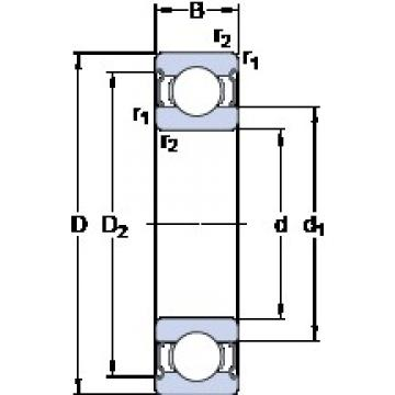 150 mm x 225 mm x 35 mm  SKF 6030-2Z deep groove ball bearings