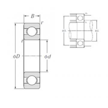 10 mm x 35 mm x 11 mm  NTN 6300 deep groove ball bearings