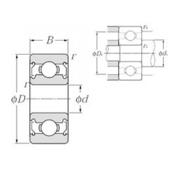 6,35 mm x 9,525 mm x 3,175 mm  NTN R168AZZ deep groove ball bearings