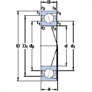 65 mm x 120 mm x 23 mm  SKF 7213 CD/HCP4A angular contact ball bearings